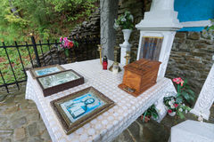 Altar near the healing spring of Tustan. Lviv region. May month Royalty Free Stock Photography