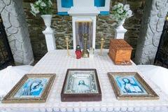 Altar near the healing spring of Tustan. Lviv region Stock Photos