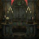 Altar o lugar sagrado arcaico en una configuración de la fantasía Foto de archivo libre de regalías