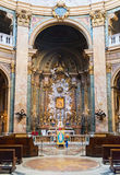 The altar of the old church in Rome Royalty Free Stock Photos