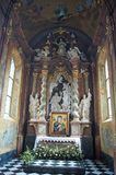 Altar in Oliwa cathedral. One of many altars in the cathedral of oliwa Royalty Free Stock Photo