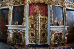 Altar in orthodox church Stock Photo