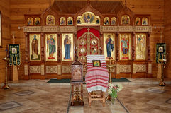The altar of the Orthodox Church. Interior Royalty Free Stock Image