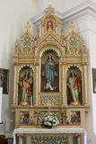 Altar of Our Lady in the Church of Holy Cross in Sisak, Croatia royalty free stock photo