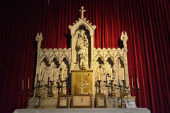Altar of Our Lady of Rosenkranz in church Saint Walburga Royalty Free Stock Images