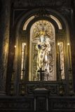 Altar of Palermo Cathedral in Palermo, Sicily, Italy. Altar dedicated to the Virgin Mary in the cathedral of Palermo in the old town of Palermo in Sicily, Italy Stock Photos