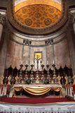 Altar of the Pantheon. Details and the interior of the ancient R Royalty Free Stock Images
