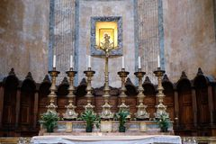 Altar in Pantheon, Rome Royalty Free Stock Images