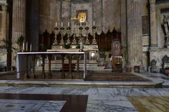 Altar In the Pantheon, Rome Royalty Free Stock Photo