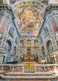 Altar principal en la iglesia de Santa Caterina en Palermo Sicilia, Italia meridional imagen de archivo libre de regalías