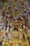 Altar principal na igreja da concepção imaculada em Lepoglava, Croácia Imagem de Stock
