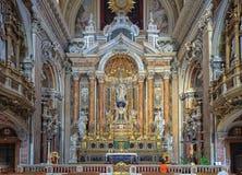 Altar principal no ¹ Nuovo - Napoli de Chiesa del Gesà Imagem de Stock