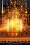 Altar que brilla intensamente Foto de archivo libre de regalías