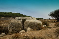 Altar of Sacrifice on Manoah, the Father of Samson. The biblical heroe, in the region of Zora, Holy Land, Israel Royalty Free Stock Photos