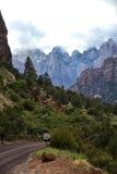 Altar of Sacrifice mountain in Zion Stock Photos