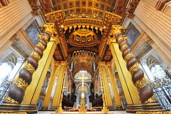 The altar of Saint Paul's cathedral, London Royalty Free Stock Photos