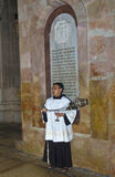 Altar server in the Holy Sepulcher Stock Photography