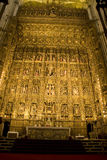 Altar, Seville Cathedral. The Altar Mayor of Seville Cathedral, Spain royalty free stock images