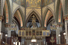 Altar in Sint-Bartholomeuskerk. Royalty Free Stock Photography