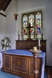 Altar of St Andrew`s Church, Withypool Royalty Free Stock Photography