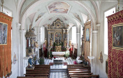 Altar of St. Korbinian im Thal church, Assling Royalty Free Stock Image