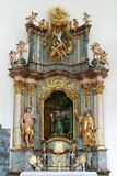 Altar of St. Paul the Hermit, Church of the Immaculate Conception of the Virgin Mary in Lepoglava, Croatia Stock Photo