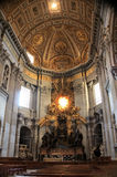 Altar in St Peter's Basilica Royalty Free Stock Image