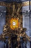 Altar of St. Peter`s Basilica. Vatican, Detail of Altar of St. Peter s Basilica from inside Stock Photos