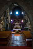 Altar in St. Procopius interiour Royalty Free Stock Photos