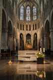 Brussels Cathedral Altar Stock Photo
