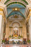 Altar in Stella Maris. Above the cave of st. Elijah Stock Photography