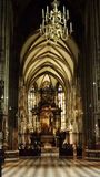 Altar in Stephansdom royalty free stock photography