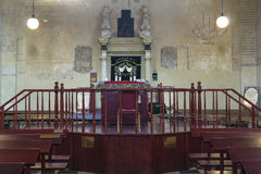 Altar in synagogue Stock Photo