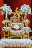 altar table is faith in buddha royalty free stock image