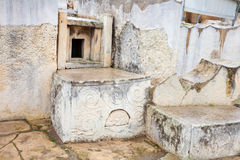 Altar in  Tarxien temples. Altar in neolithic Tarxien temples. Malta. Built approximately in 3000 B.C Stock Images