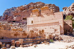 Altar of Temple of Dushares in Petra Stock Photography