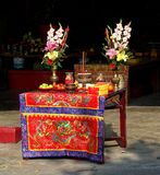 Altar at a Temple in Taiwan Stock Photos