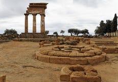 Altar - templo do rodízio e do Polux Foto de Stock Royalty Free