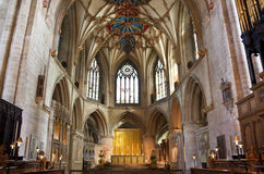 The altar at tewkesbury abbey Royalty Free Stock Photography