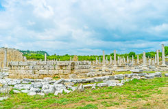 Altar of Tyche Temple in Perge Stock Photos