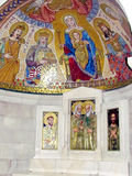 Altar Ungarn 2012 Jerusalems Dormition Abbey Crypt Stockfotografie