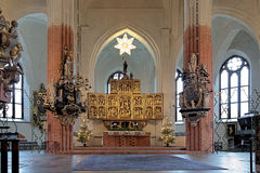 Altar of the Vasteras Cathedral. Sweden Royalty Free Stock Image