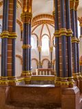 Altar view in the Vianden Castle upper chapel dedicated to St. Anthony in Luxembourg stock photo