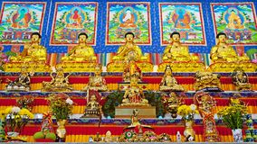 Altar of Vihara Vajra Temple Royalty Free Stock Photography