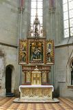 Altar of Virgin Mary in Zagreb cathedral Stock Images