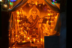 Altar with Vishnu Stock Photos