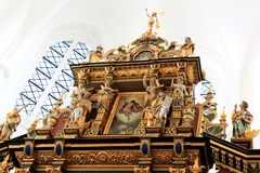 Altar von kyrka Sankt Petri, Malmö, Schweden Stockbild