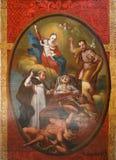 Altar von Saint Joseph-Schutzpatron eines glücklichen Todes in der Kirche der Geburt von Jungfrau Maria in Svetice, Kroatien Lizenzfreie Stockbilder