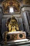 Altar von Sistine-Kapelle und Rhetorik der Geburt Christi in der Basilika von Santa Maria Maggiori in Rom Italien Lizenzfreies Stockfoto
