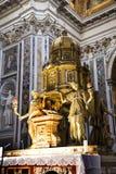 Altar von Sistine-Kapelle und Rhetorik der Geburt Christi in der Basilika von Santa Maria Maggiori in Rom Italien Lizenzfreie Stockbilder